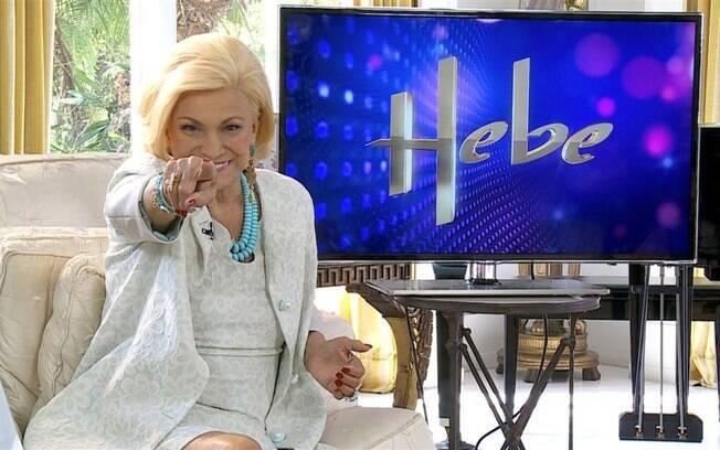 Hebe volta a gravar seu programa no próximo dia 23 de abril