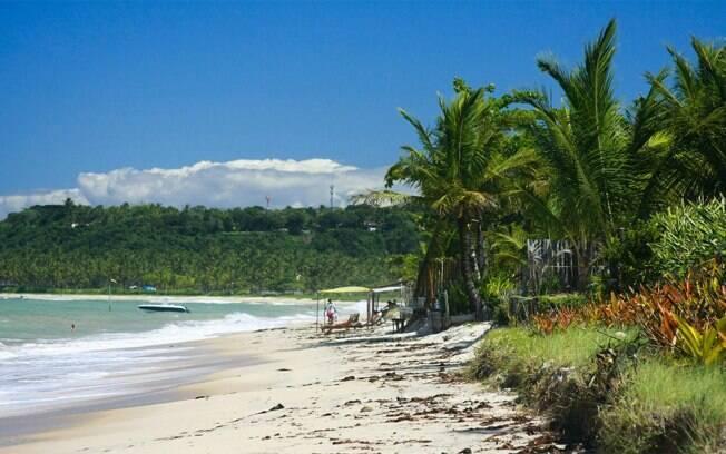 Praia de Araçaípe em Arraial d'Ajuda, na Bahia
