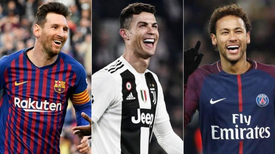 Messi, CR7 e Neymar