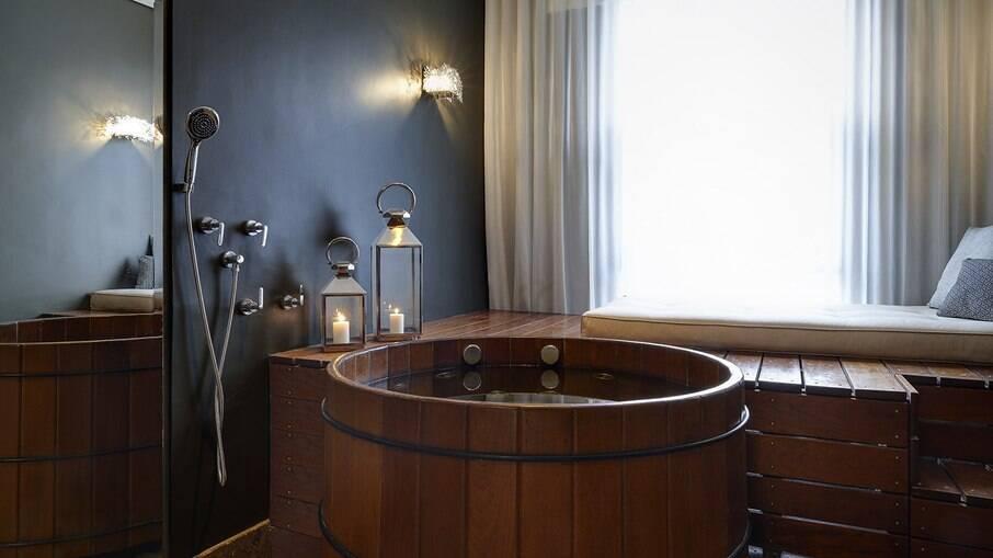 Banho de ofurô no The Spa at Renaissance