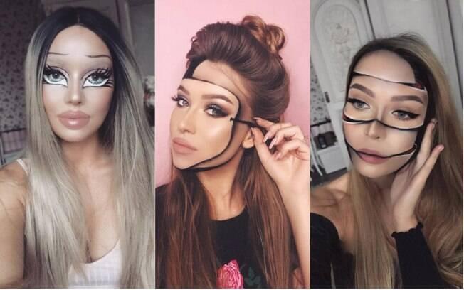 Monika começou a trabalhar com maquiagem artística após outubro do ano passado, pensando no Halloween