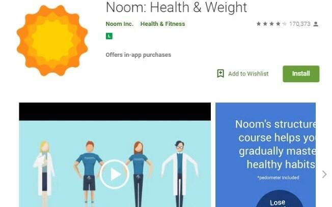 Aplicativos fitness: o Noom Coach pode ser usado para registar os exercícios que faz e também os detalhes da dieta