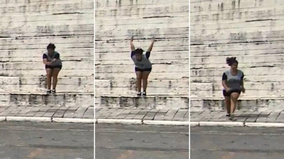 Garotas praticando parkour em Taubaté viraram meme nas redes sociais