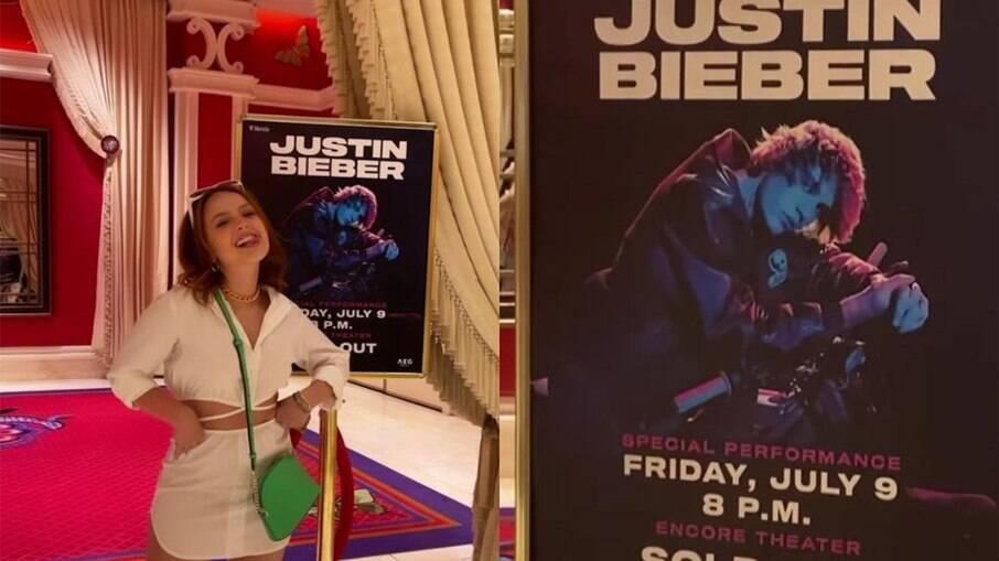 Larissa Manoela e Leo Cidade postam fotos do show do Justin Bieber