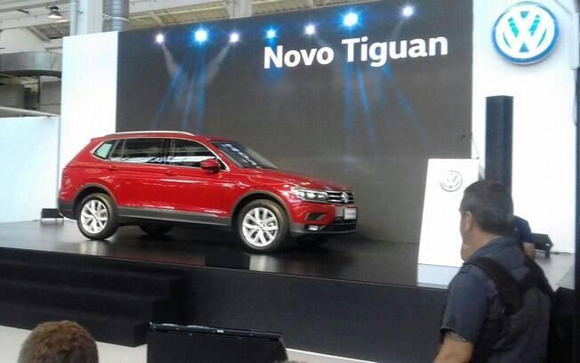 Volkswagen Tiguan Allspace durante sua apresentação, na comemoração de 65 anos da marca no Brasil