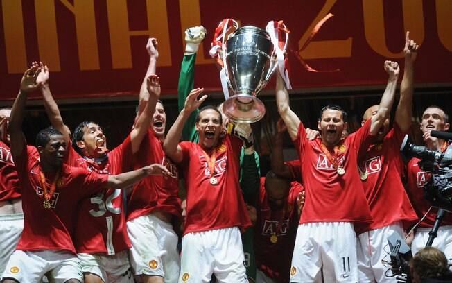 O título de 2008 foi o terceiro e mais  recente do Manchester United na Liga dos Campeões