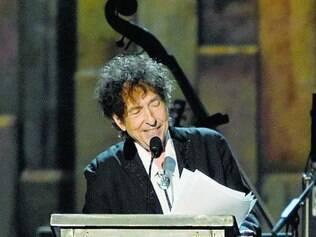 Em seu discurso, Dylan se queixou do tratamento que recebe da crítica