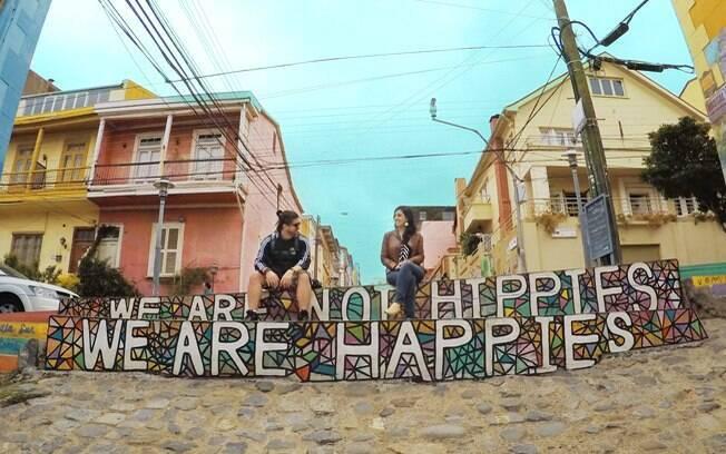 Casinhas coloridas dão charme à cidade do litoral do Chile