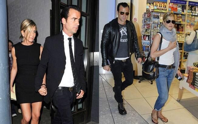 Jennifer Aniston e Justin Theroux em Londres