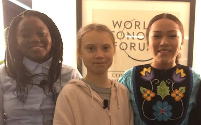 Greta Thunberg está participando do Fórum Econômico Mundial, em Davos, na Suíça