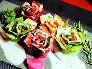 Rondeli di fiore. Criação do chef Americo Piacenza acompanha molho branco