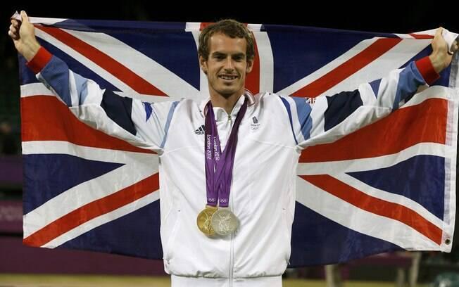 Andy Murray, segundo na votação da BBC, venceu sua primeira medalha de ouro olímpica em 2012