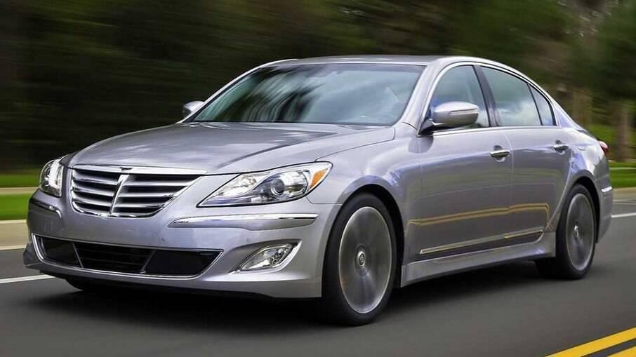 Genesis é um sedã de luxo da Hyundai para concorrer com modelos alemães do mesmo segmento