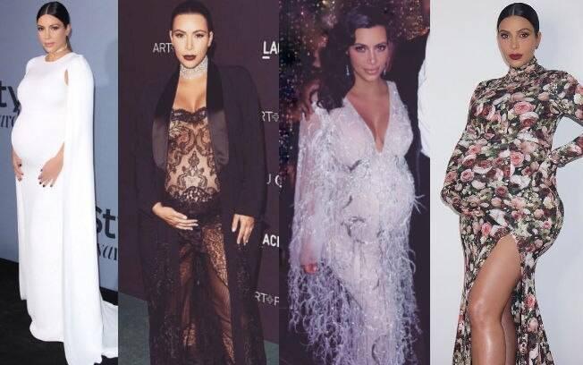 Para as mamães mais ousadas, Kim Kardashian mostra que vale realmente de tudo: desde transparências até estampas