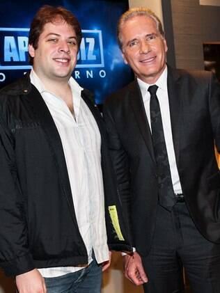 Roberto Justus e o filho, Ricardo, que é diretor de 'O Aprendiz - O Retorno' e do 'Roberto Justus +'