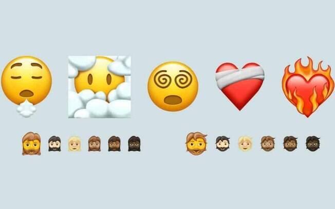 Novos emojis chegarão aos celulares em 2021
