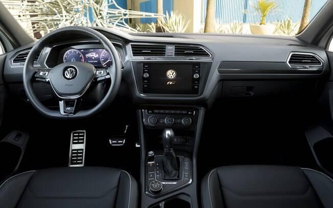 Interior com acabamento caprichado e boa dose de sofisticação é um dos destaques da versão topo de linha do Tiguan