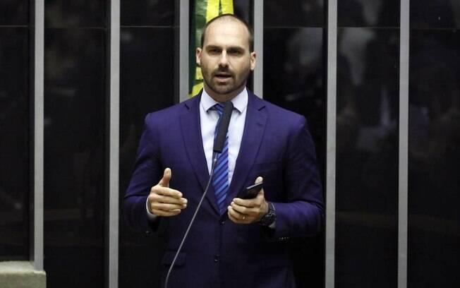 Após crise interna, Eduardo virou novo líder do PSL na Câmara.