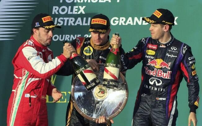 Alonso e Vettel completam o pódio do GP da  Austrália