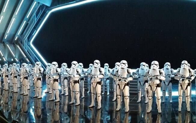 Stormtroopers na nova atração de Star Wars