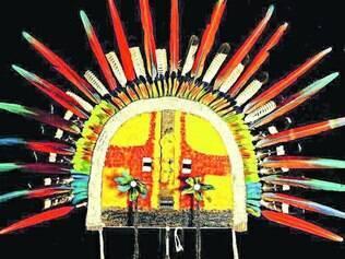 Masculino. Máscara Cara Grande – Ypé, da etnia Tapirapé, do Mato Grosso, é uma das peças em exposição a aprtir de hoje