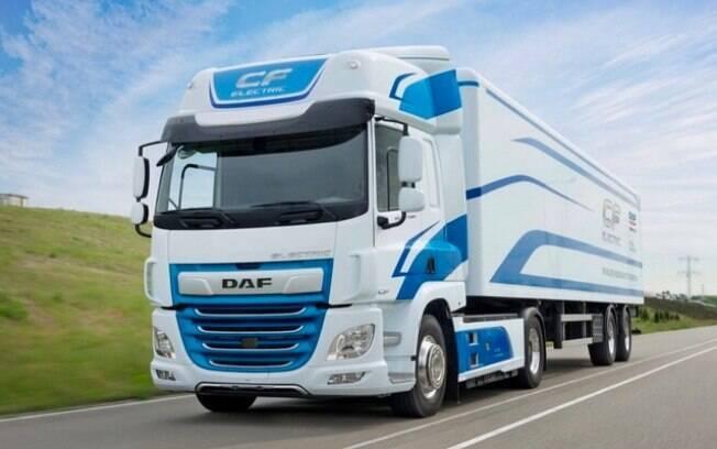 O LF Electric de 19 toneladas foi um dos modelos da DAF exibido na feira de transportes Fenatran em São Paulo