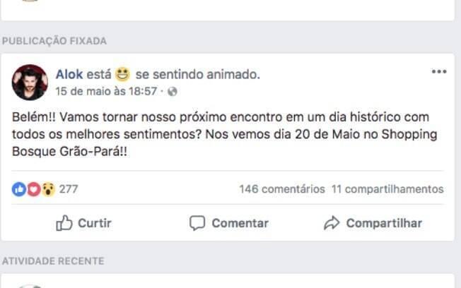 DJ Alok remarca show cancelado nesse domingo (20) para o próximo dia 20 de maio, em Belém (PA), após acidente com avião em Juiz de Fora (MG)