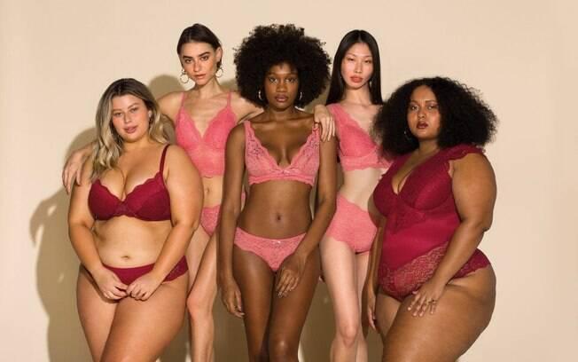 A marca Liebe aposta em diversidade de corpos em suas coleções de lingerie