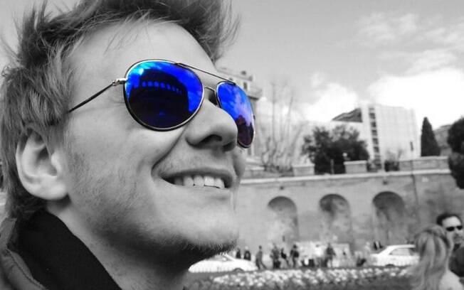 Michel Teló em Roma, antes de visitar centro de treinamento do Milan