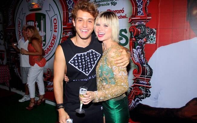 Julianne Trevisol e o namorado Christian Monassa
