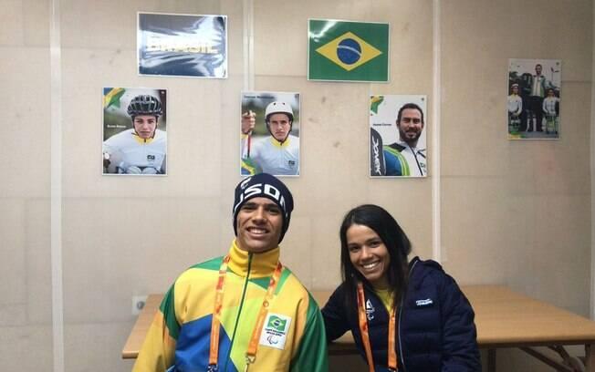 Cristian Ribera e Aline Rocha fazem parte da delegação brasileira que estará nos Jogos Paralímpicos de Inverno
