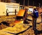 Rompimento de adutora deixa 13 bairros sem água
