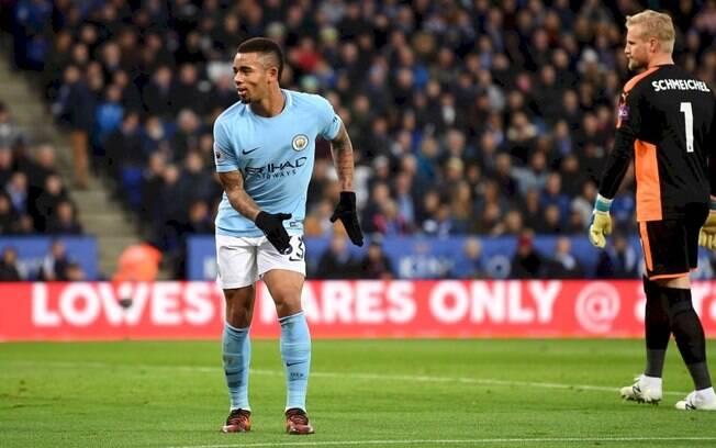 Gabriel Jesus fez o décimo gol com a camisa do Manchester City em 17 jogos