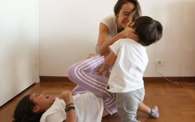 Miá Mello e filhos