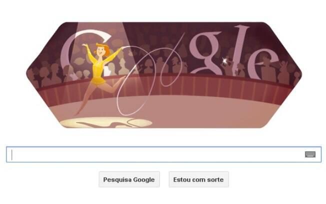 Ginástica rítmica é homenageada pelo Google, que ilustra uma atleta competindo com fitas