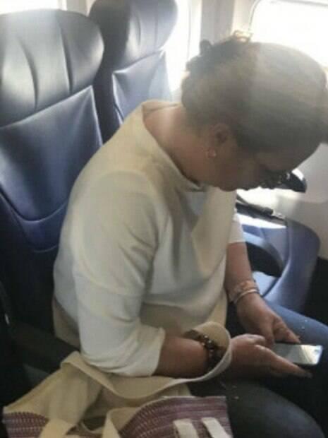 passageira de avião