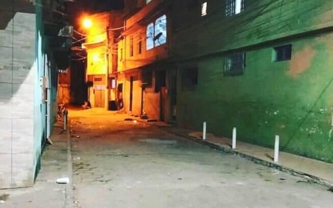 Rua na qual moradores foram atacados em Vila Velha