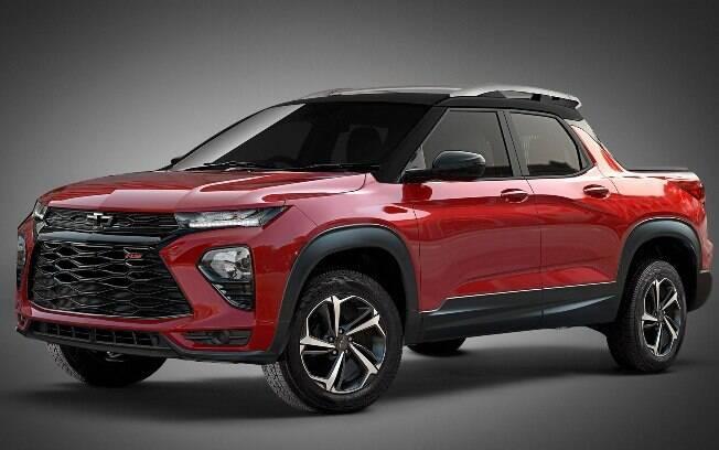Projeção antecipa o possível visual da nova picape intermediária da Chevrolet, que irá brigar com a Toro