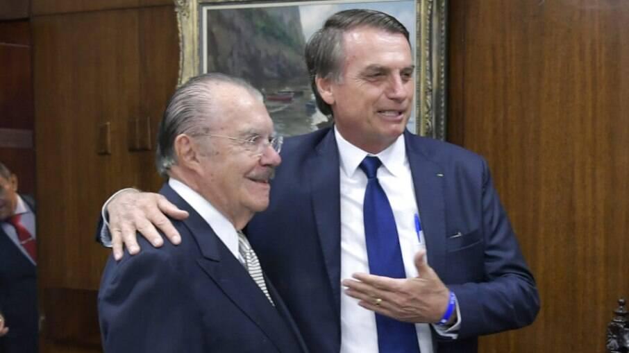 José Sarney e Bolsonaro