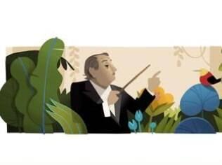 Villa-Lobos em homenagem do Google