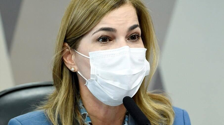 Mayara Pinheiro - capitã cloroquina - durante depoimento à CPI