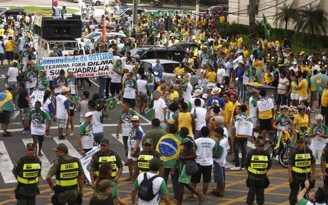 Belém (PA) também registrou manifestações em protesto contra a presidente Dilma. Foto: Igor Mota/Futura Press