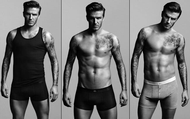 David Beckham clicado para a nova campanha da linha de cuecas que assinou em parceria com a H&M