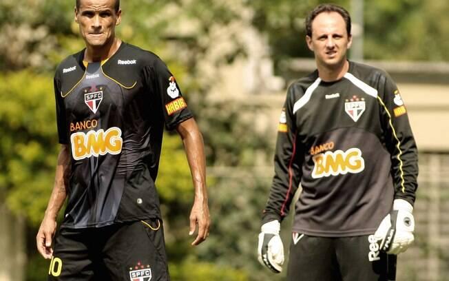 Os dois se reencontraram quase uma década  depois, quando Rivaldo defendeu o São Paulo