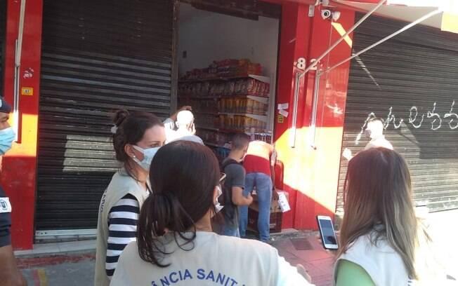 Mercado foi interditado na região central de Campinas.