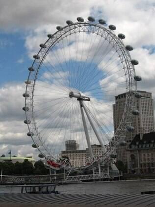 Do alto da roda gigante London Eye se tem uma das melhores vistas da cidade