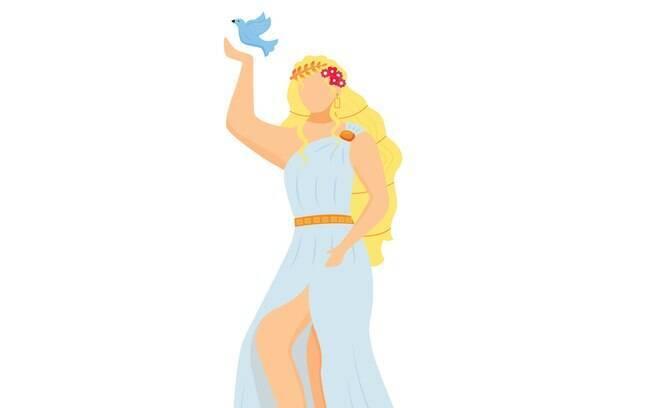 Afrodite é a deusa grega do amor e da beleza que busca prazer em tudo