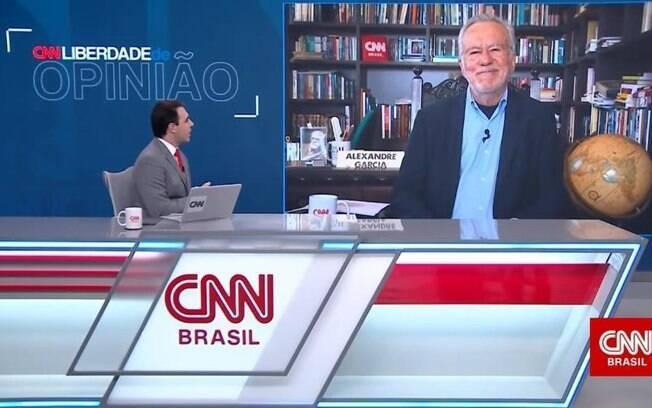 Sidney Rezende e Alexandre Garcia na CNN