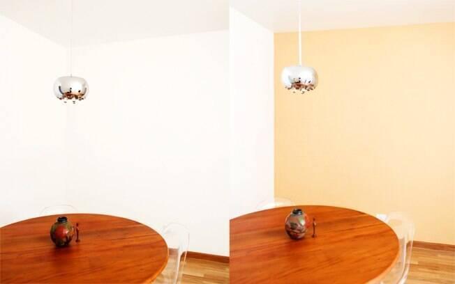 Antes e depois da sala