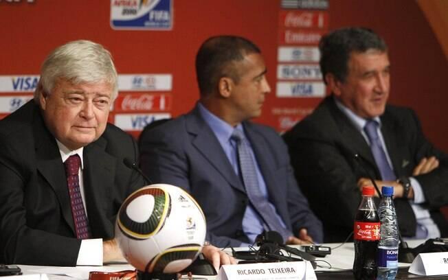 Ricardo Teixeira, Romário e Parreira em  encontro antes da Copa de 2010